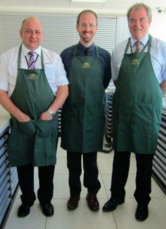 Ahmad Tea's expert tea tasters: (From right): William Manning, Dominic Marriott and Neil Pavely