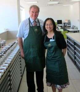 With Ahmad tea expert tea taster, Wiliam