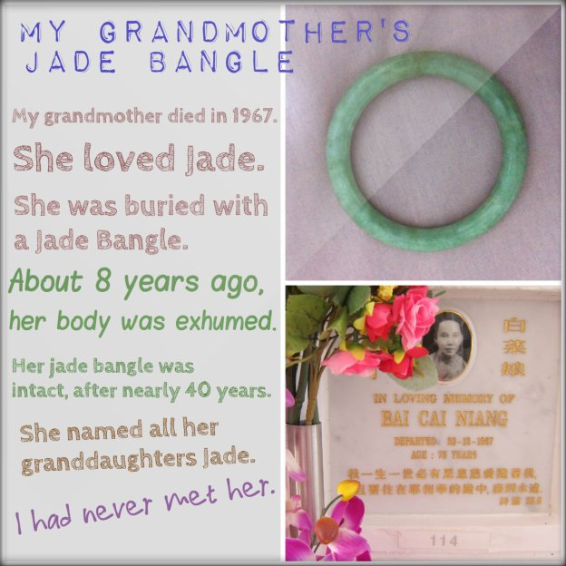 My grandmother's Jade Bangle found.