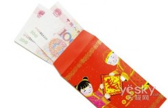 Giving children money in a red packet