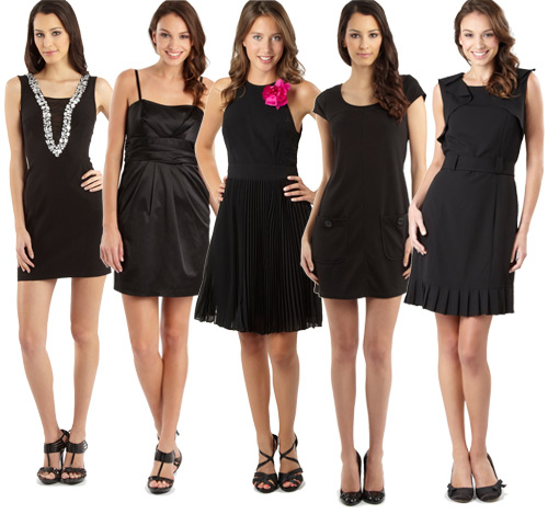 Little Black Dresses (Image from Debenhams Blog)