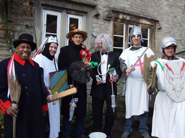 Western mummers (image from Rodw on wikipedia)