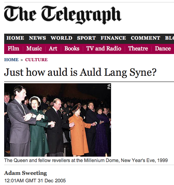 Why crossing your arms when singing Auld Lang Syne?