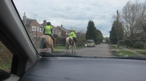 horses -- give way