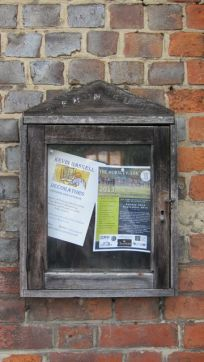 notice board outside post office