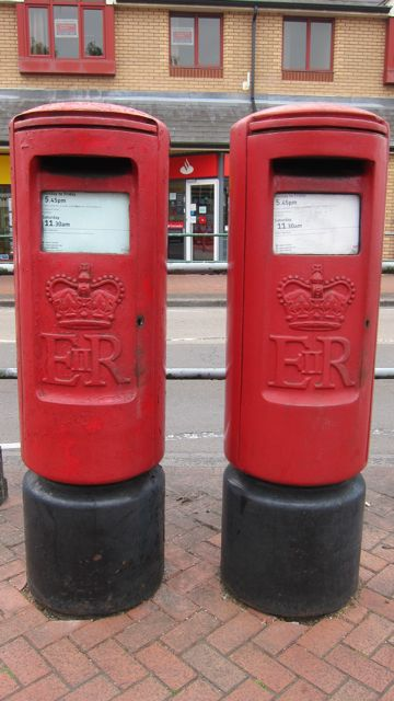 Two post boxes in Chandler's Ford