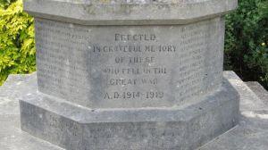Cenotaph at St. Boniface church, Chandler's Ford