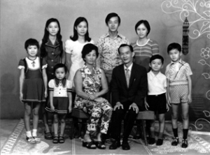 Being the youngest in a typical Chinese family. A family of 10.