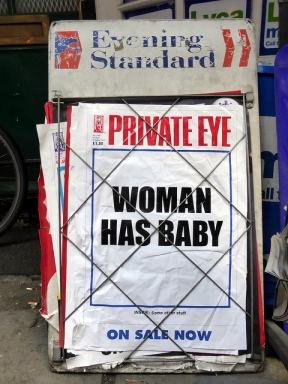 Private Eye: Woman has baby