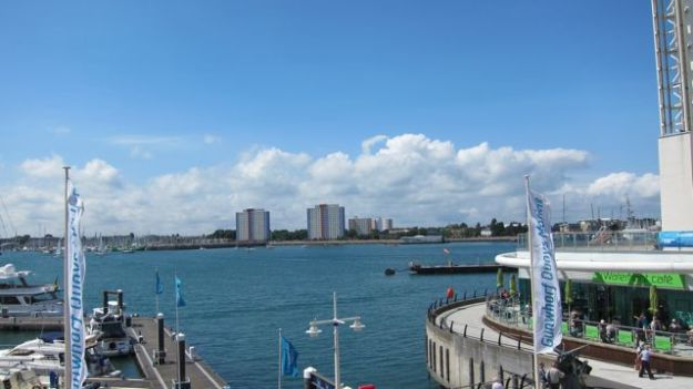 Cloud -- Gunwharf Quays, Portsmouth Harbour, England