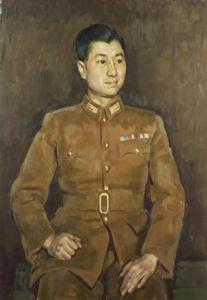 Han Suyin's first husband, who died in the Chinese civil war. © IWM (Art.IWM ART LD 4503) Tang Pao-Huang