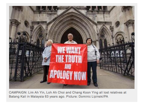 LIM Ah Yin (left) at London High Court in 2012. Her father was shot dead. (Image via Herald Scotland)