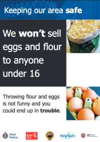 """We won't sell eggs and flour to anyone under 16."""