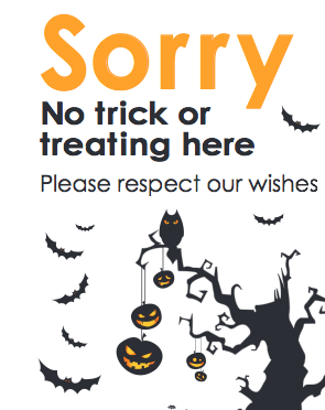 No Trick or Treating