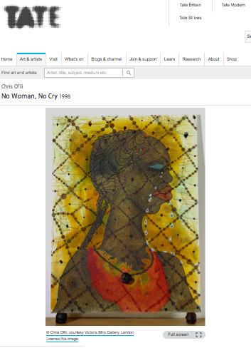 'No Woman, No Cry' by Chris Ofili, at Tate Britain