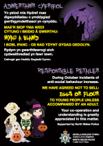 In English and Welsh -- how to be a responsible retailer during Halloween.