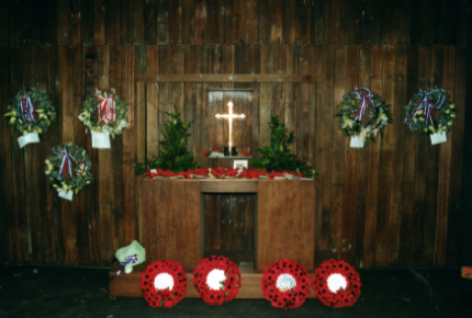 Memorial Service at Changi in Singapore in 2001