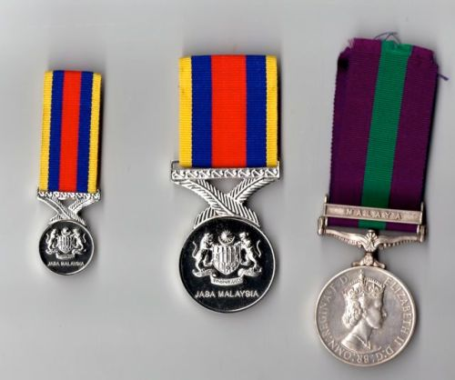 Pingat Jasa Malaysia, service medal given by given by the King and Government of Malaysia.