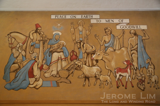 The Nativity - the first mural by Stanley Warren. (Image: Jerome Lim)
