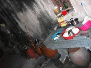 The kitchen in my mother's ancestral home is basic but functional.