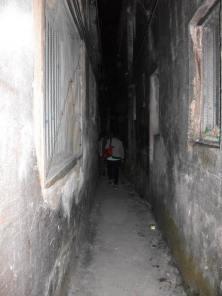 No street light in the village.