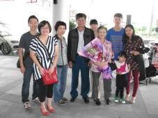 My mother and family received a warm welcome in China.