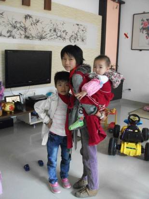 Children in our Chinese family.