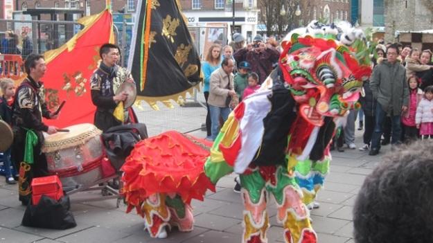 Lion Dance in Southampton, 2014.