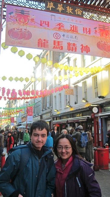My son and I visited China Town in London during school holiday two weeks ago.