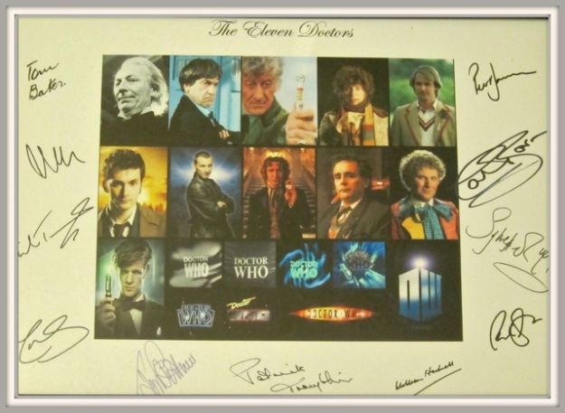 My son received this framed poster of all Doctors and their signatures from his grandparents on his birthday.